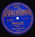 "45Re✦ROBERT JOHNSON✦""Preachin' Blues / Love In Vain"" Masterpiece.1st Time in 7""♫"